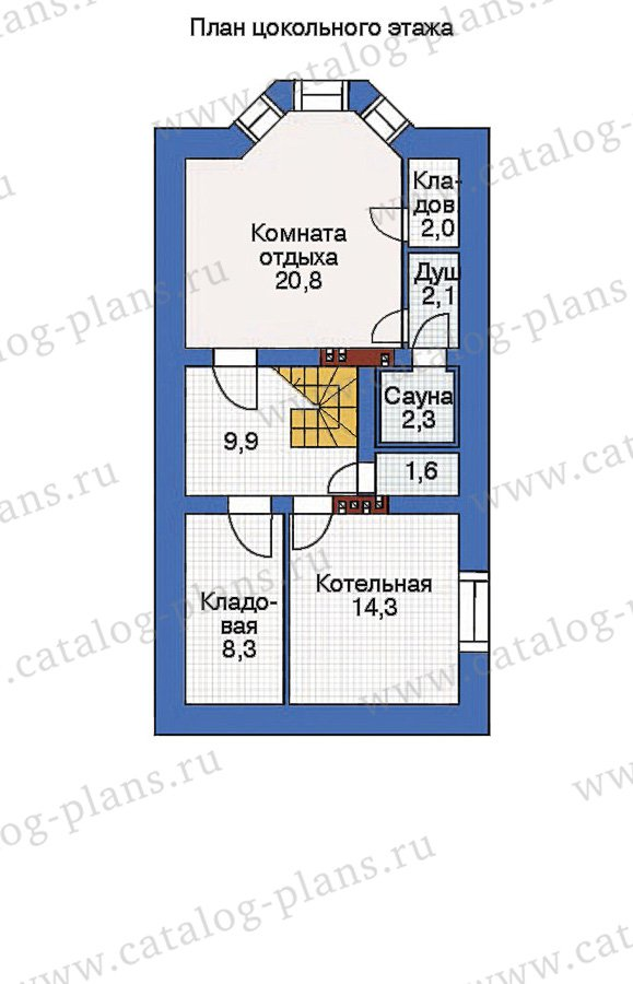 План 1-этажа проекта 36-77