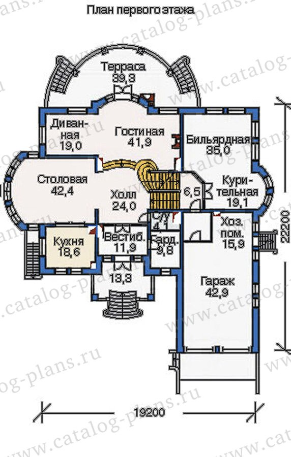 План 2-этажа проекта 36-20