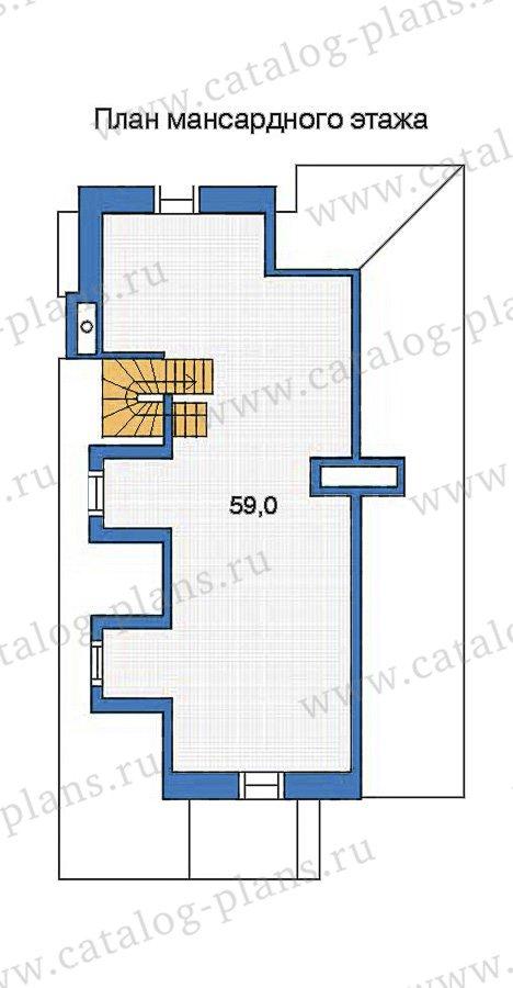 План 3-этажа проекта 35-74