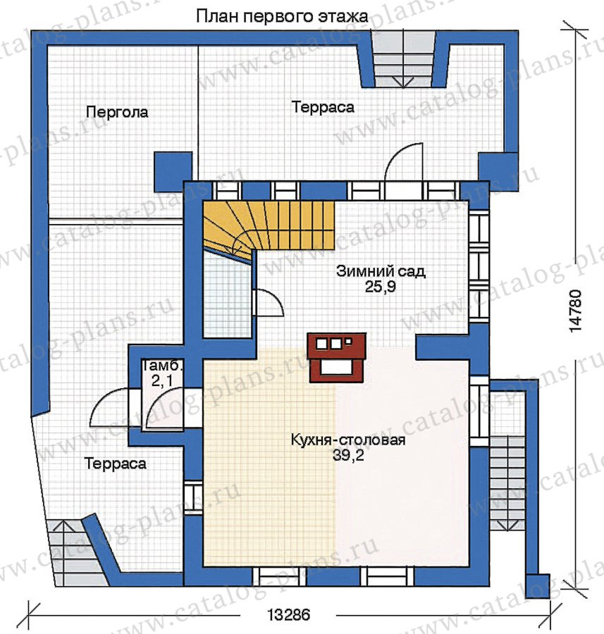 План 2-этажа проекта 35-29