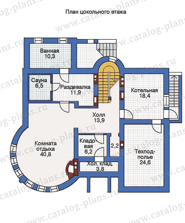 План 1-этажа проекта 36-17
