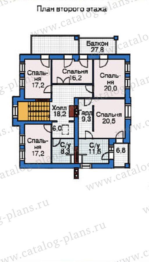 План 3-этажа проекта 37-60