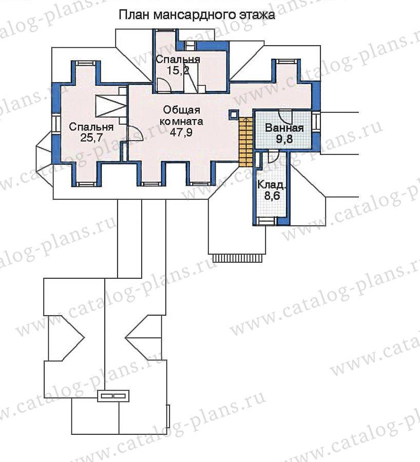 План 3-этажа проекта 35-16
