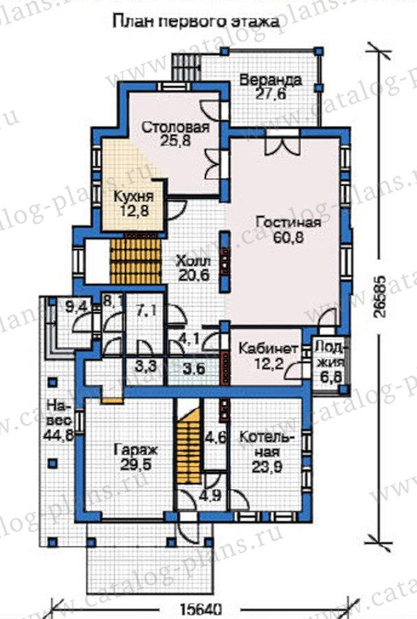 План 2-этажа проекта 37-60