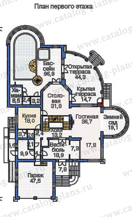 План 2-этажа проекта 36-21