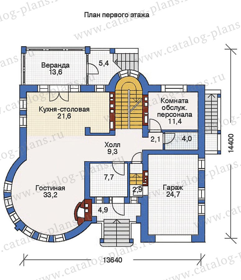 План 2-этажа проекта 36-17