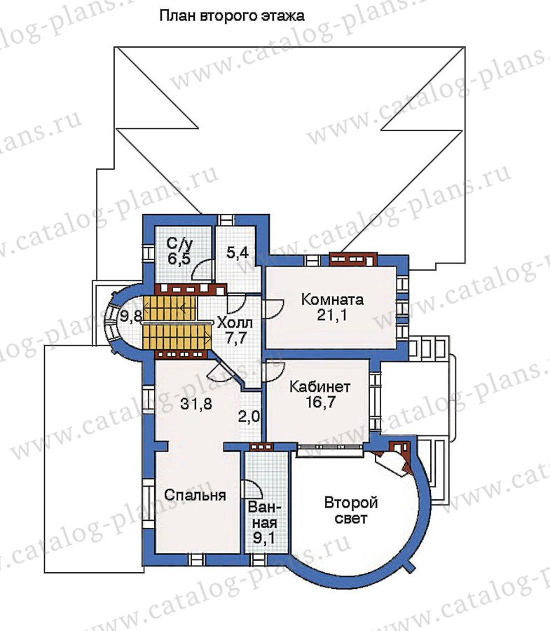 План 3-этажа проекта 36-13
