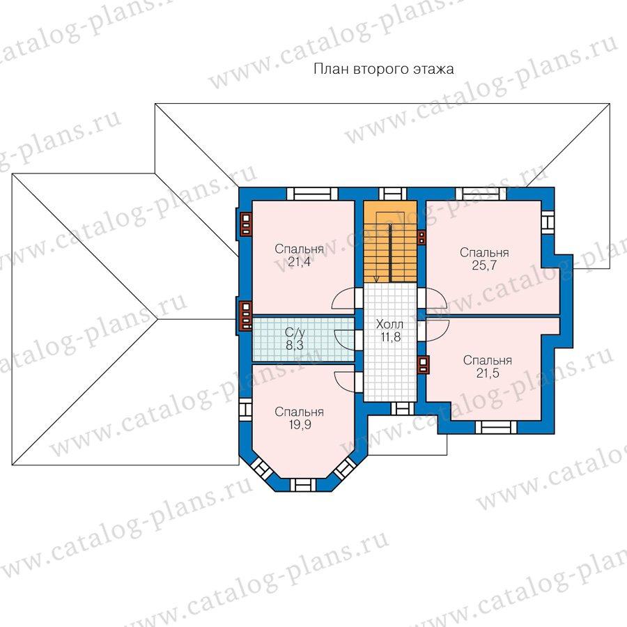 План 2-этажа проекта 48-29C
