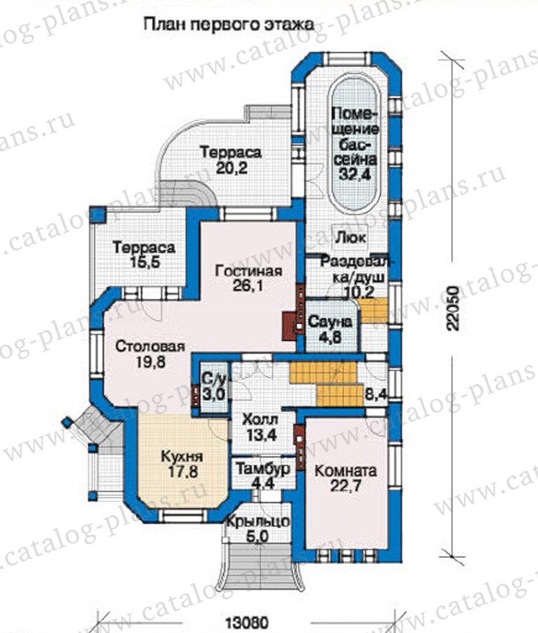 План 2-этажа проекта 37-17