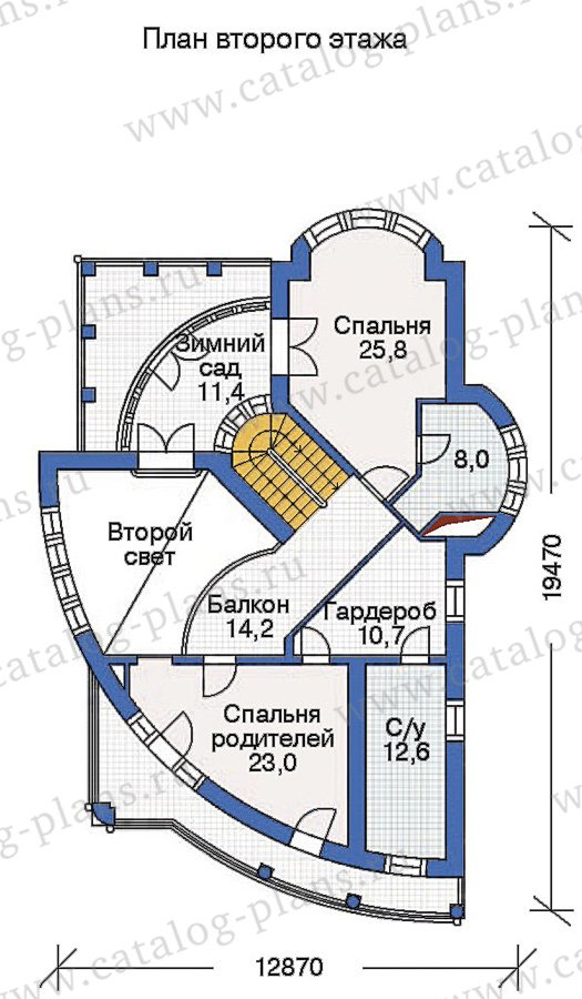 План 3-этажа проекта 36-16