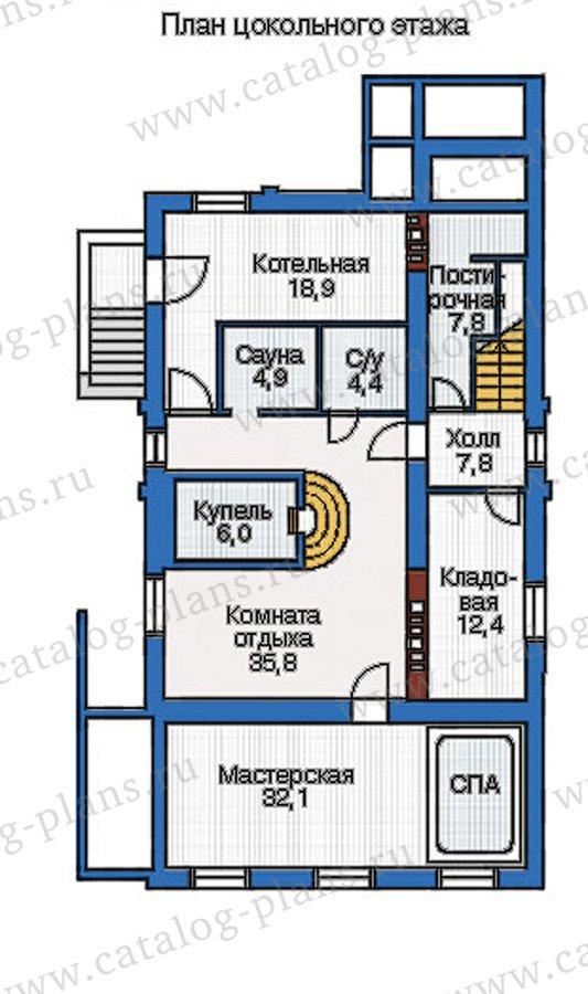 План 1-этажа проекта 37-61