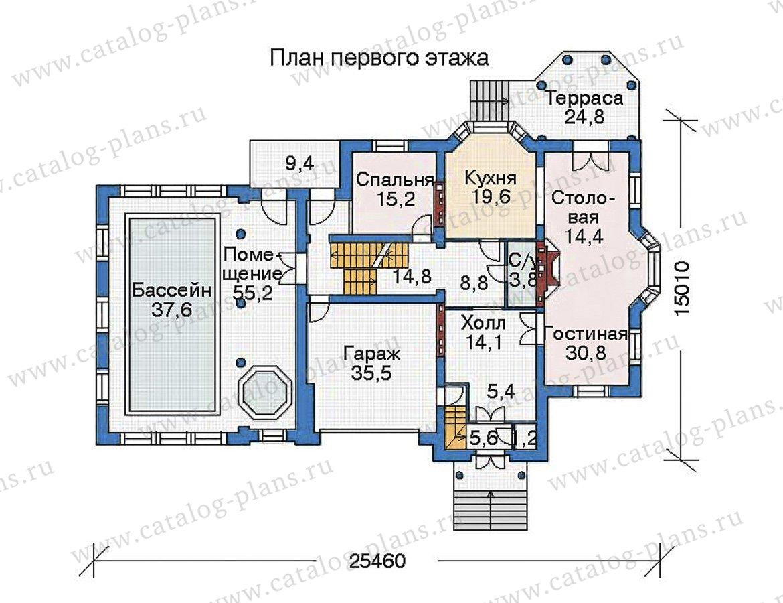 План 2-этажа проекта 35-81