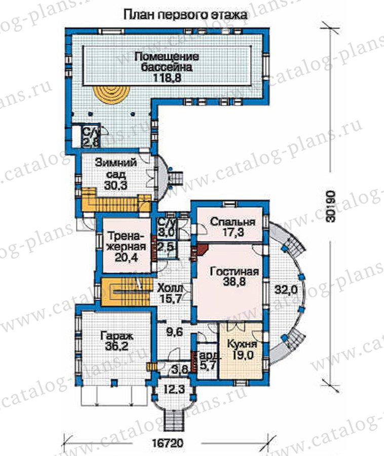 План 2-этажа проекта 35-85