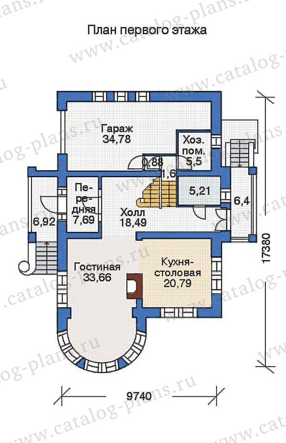 План 1-этажа проекта 36-15