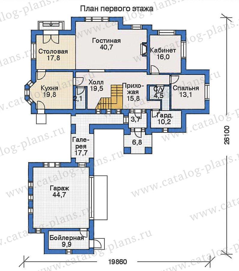 План 1-этажа проекта 35-16