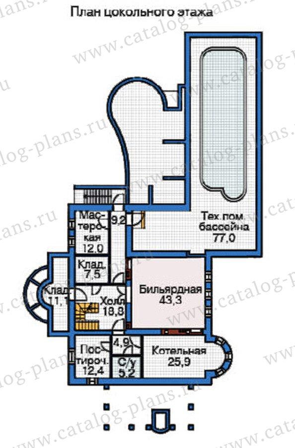 План 1-этажа проекта 37-62