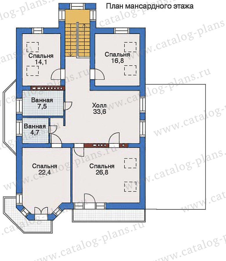План 3-этажа проекта 35-18