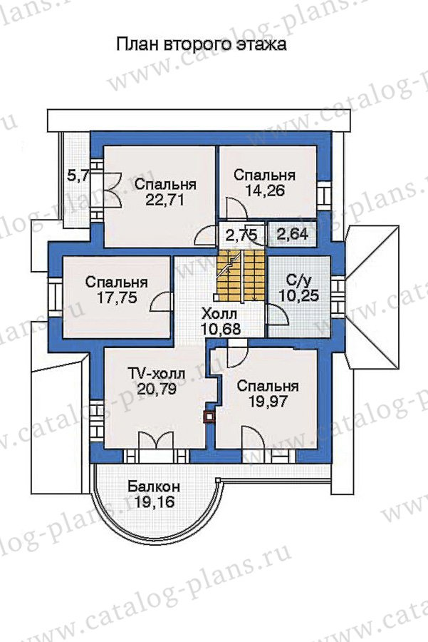 План 2-этажа проекта 36-15