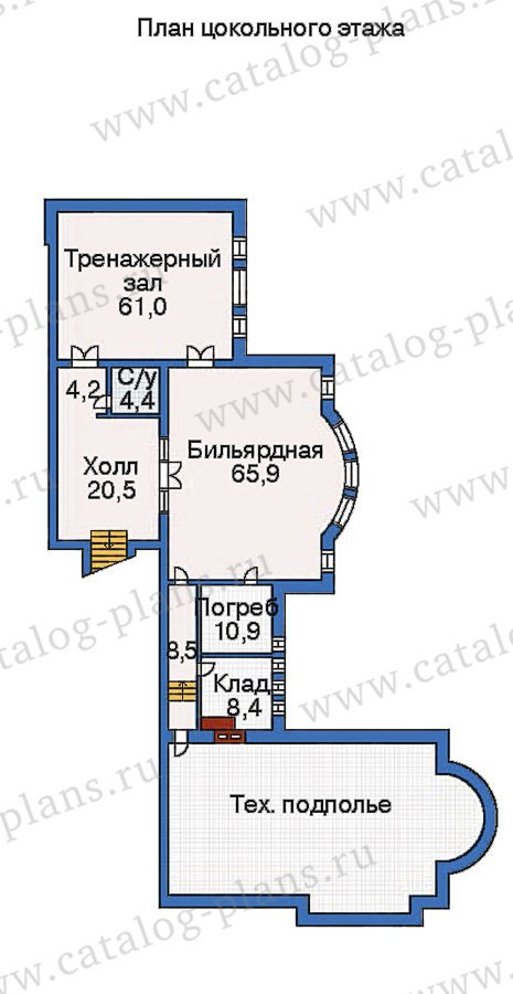 План 1-этажа проекта 36-09