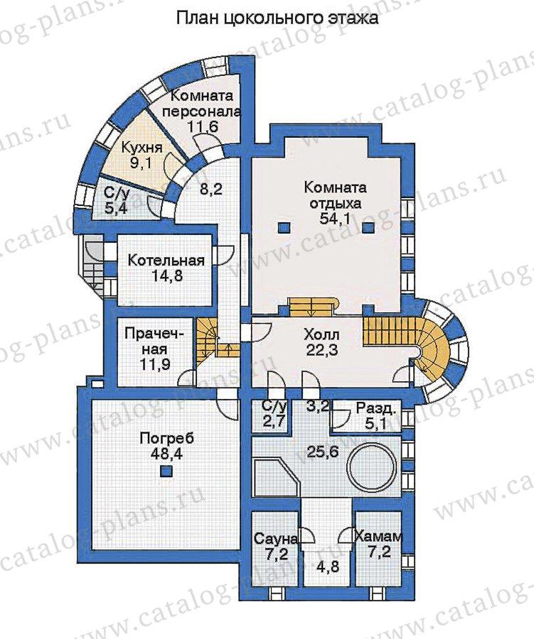 План 1-этажа проекта 35-19
