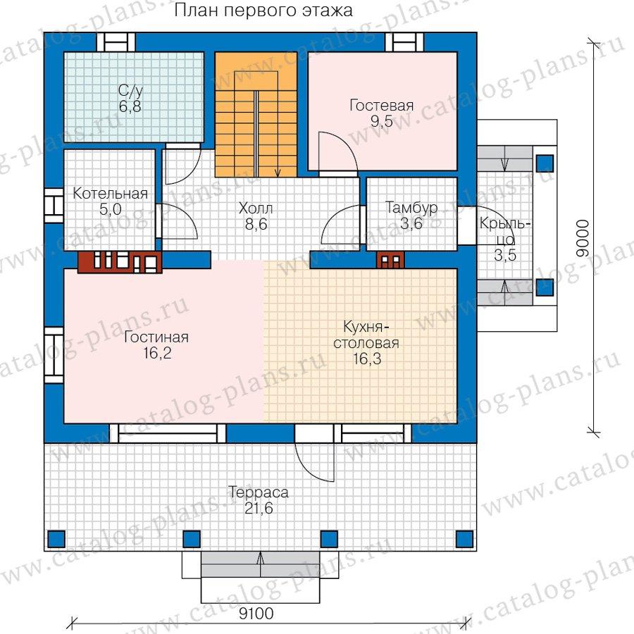 План 1-этажа проекта 40-04B