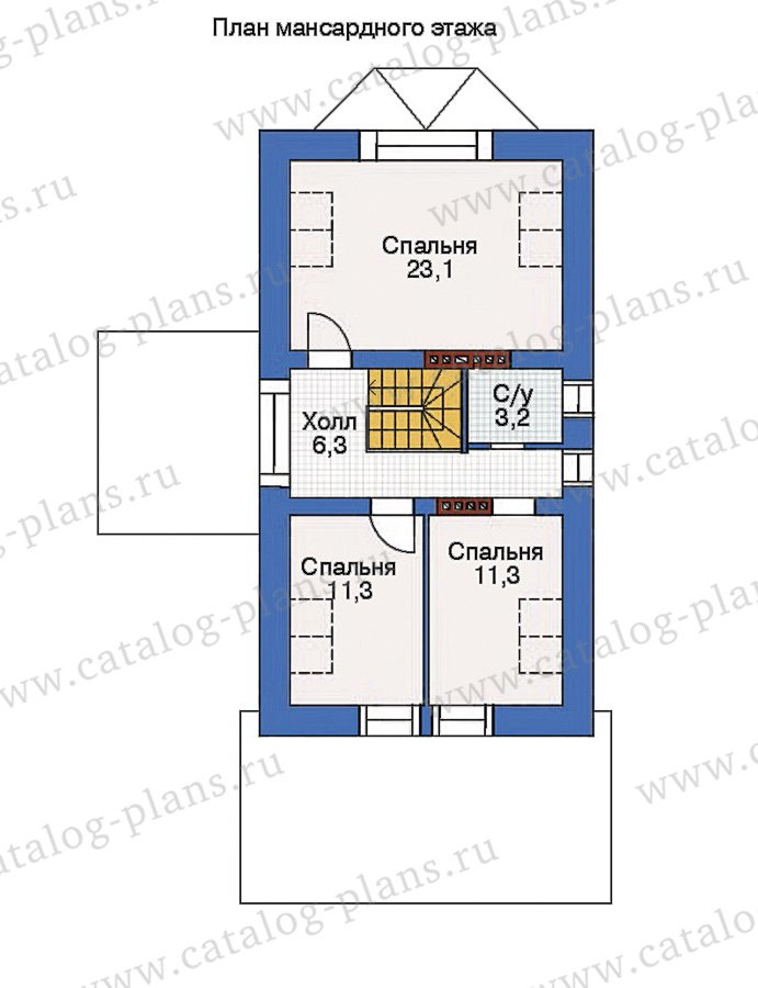 План 3-этажа проекта 36-77