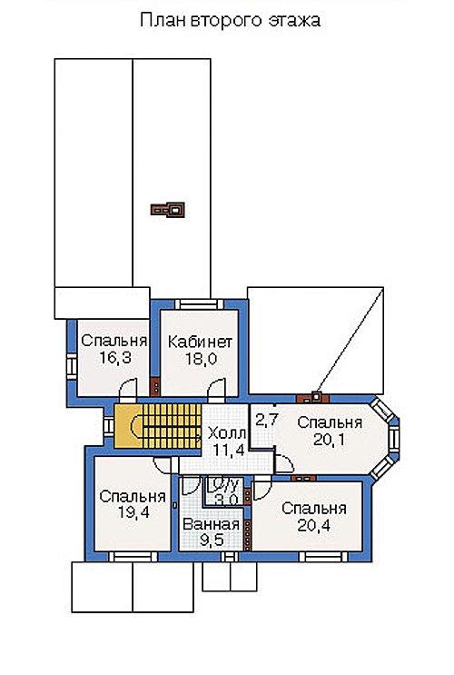 План 2-этажа проекта 36-36