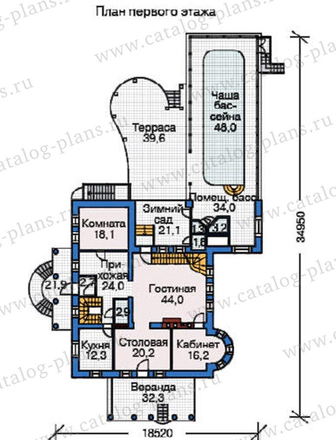План 2-этажа проекта 37-62