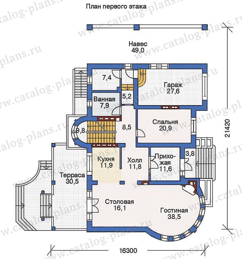 План 2-этажа проекта 36-13