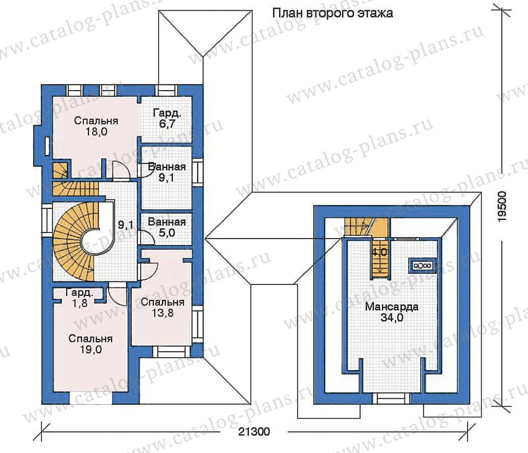 План 2-этажа проекта 35-74