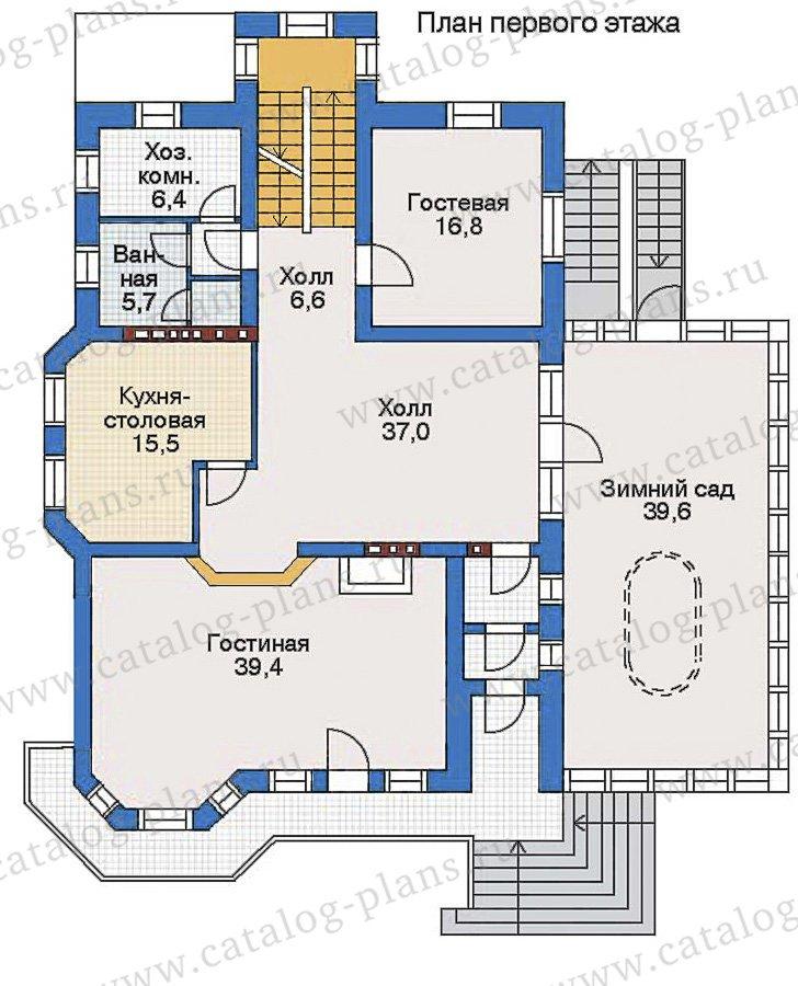 План 2-этажа проекта 35-18