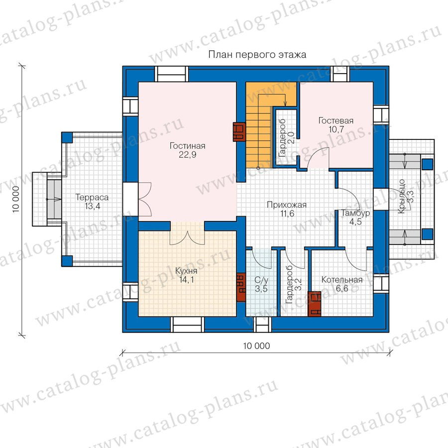 План 1-этажа проекта 57-05A