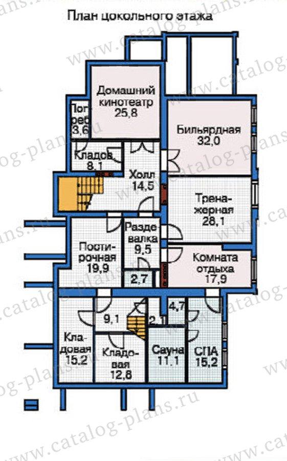 План 1-этажа проекта 37-60