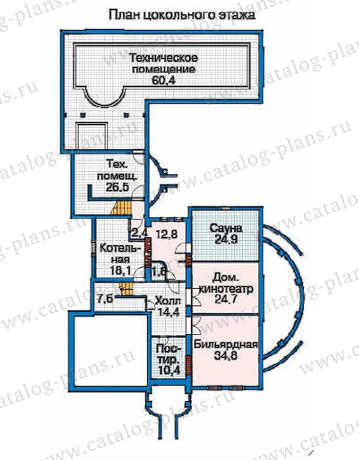 План 1-этажа проекта 35-85