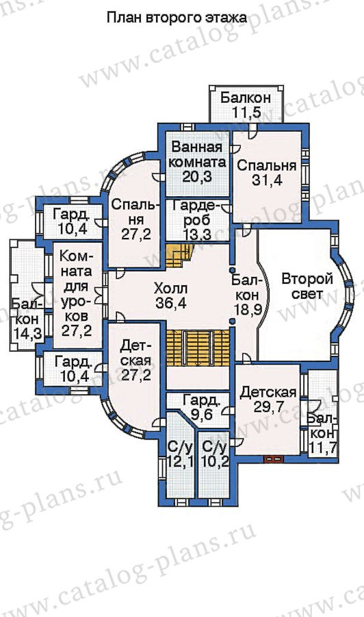 План 3-этажа проекта 36-09