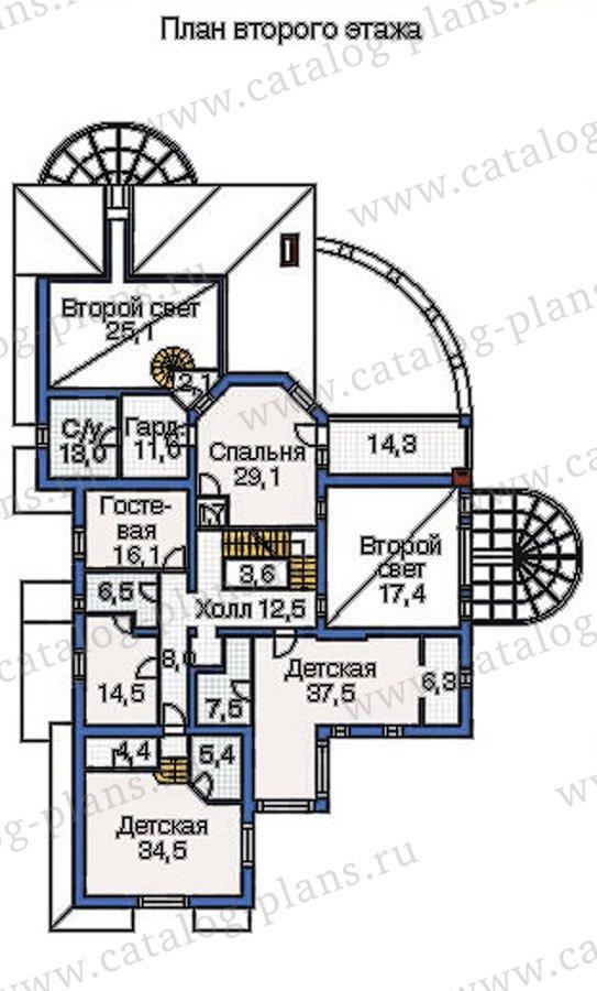 План 3-этажа проекта 36-21