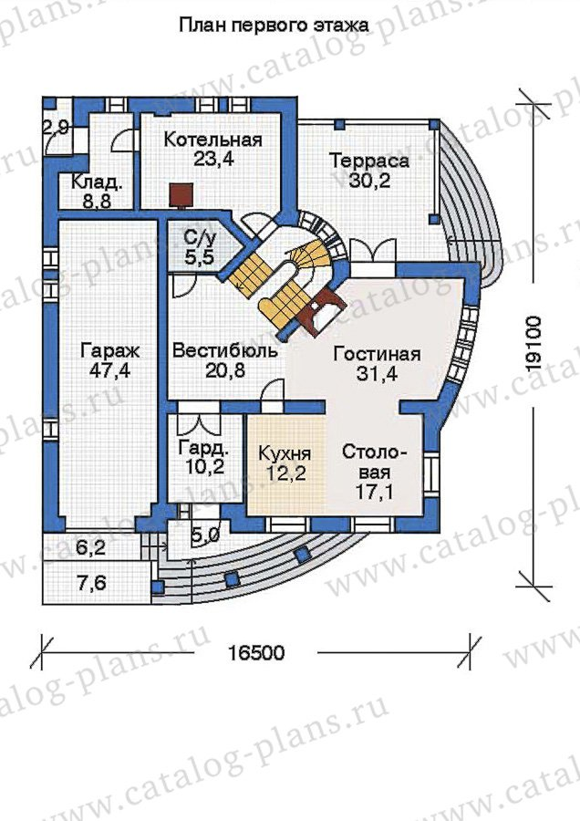 План 2-этажа проекта 36-12