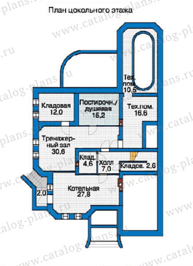 План 1-этажа проекта 37-17