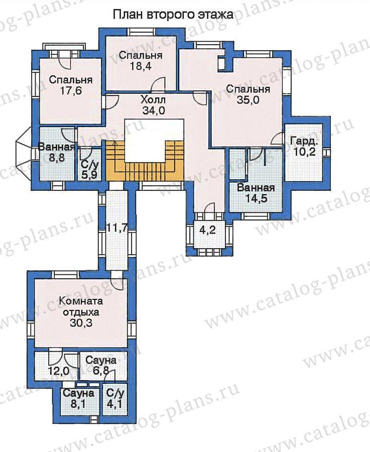 План 2-этажа проекта 35-16