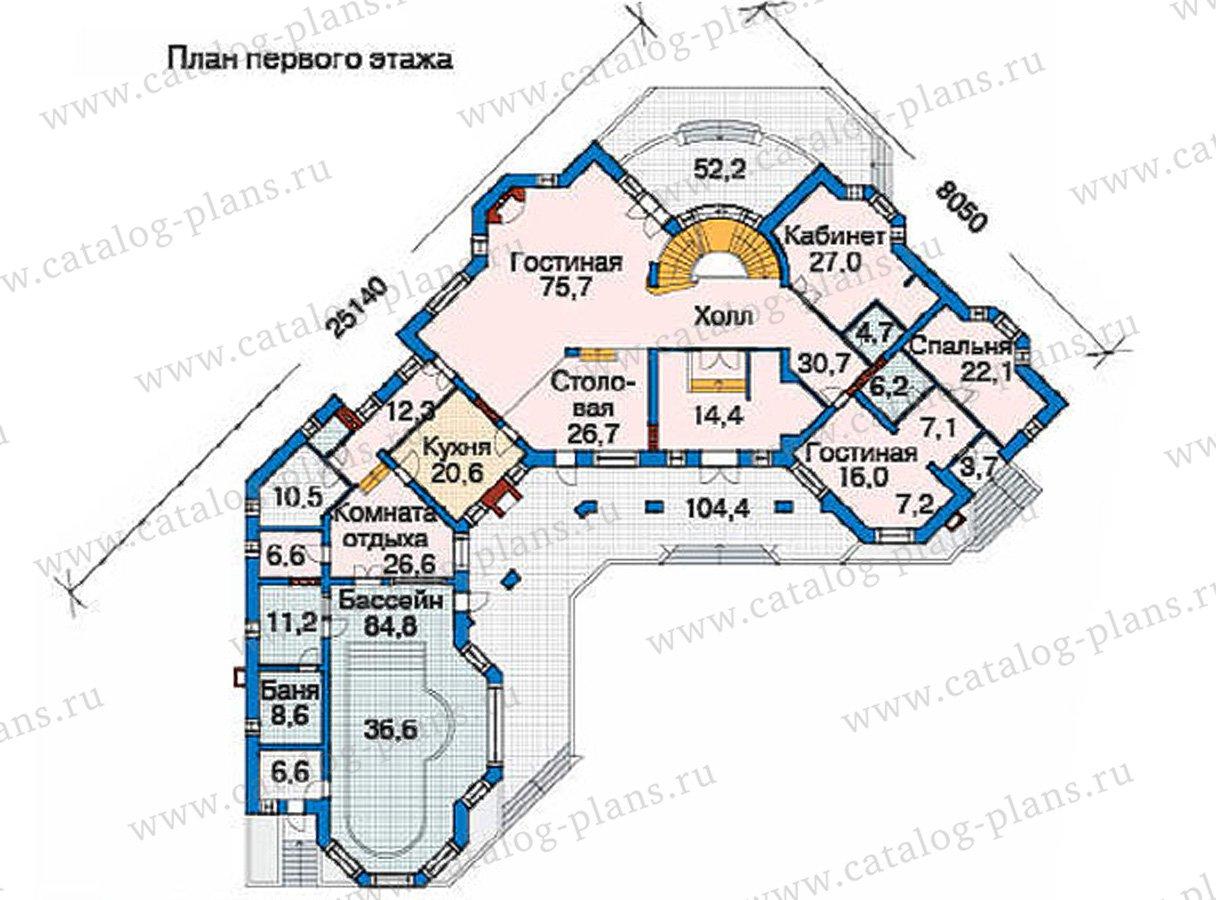 План 2-этажа проекта 36-10