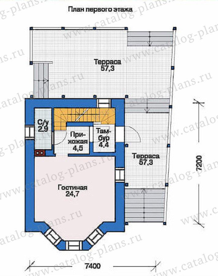 План 2-этажа проекта 53-70