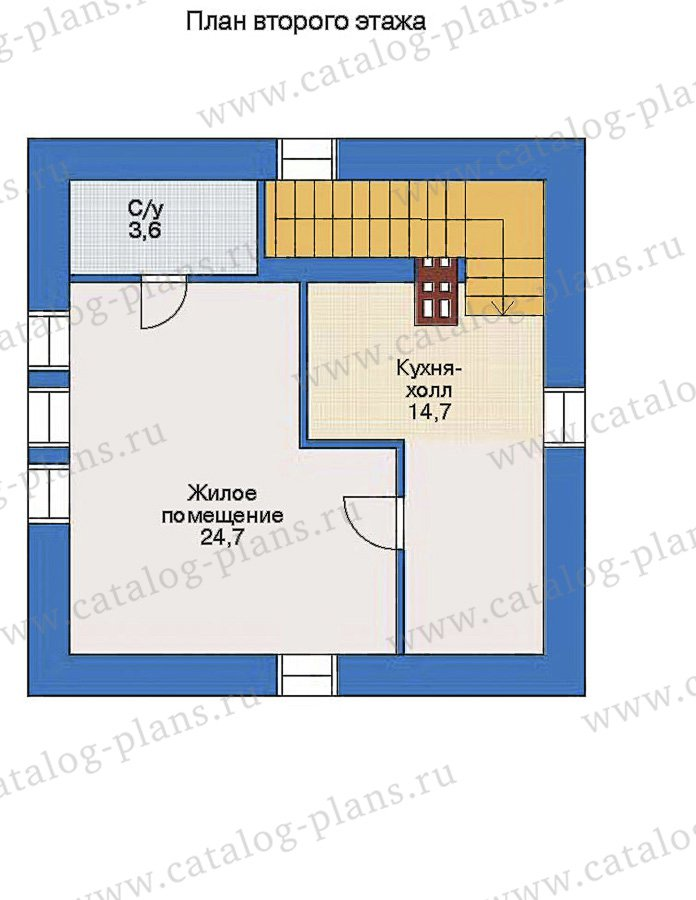 План 3-этажа проекта 90-07