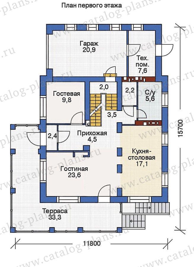 План 2-этажа проекта 53-74
