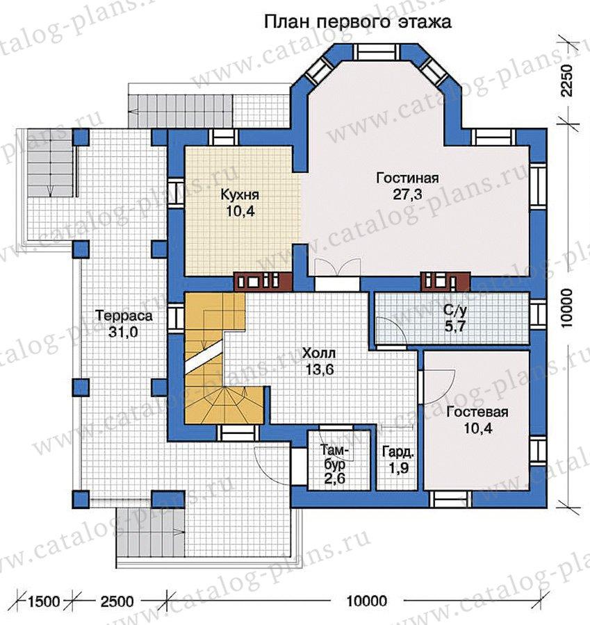 План 2-этажа проекта 57-31