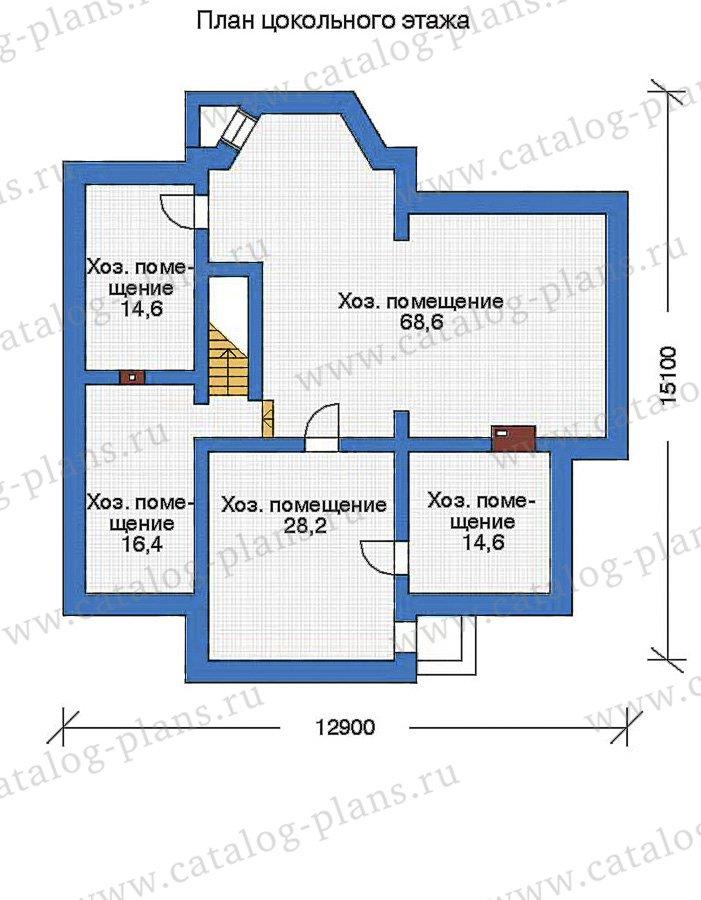 План 1-этажа проекта 80-10