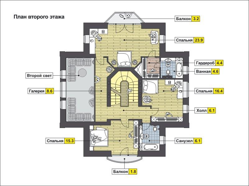 План 3-этажа проекта 59-78B