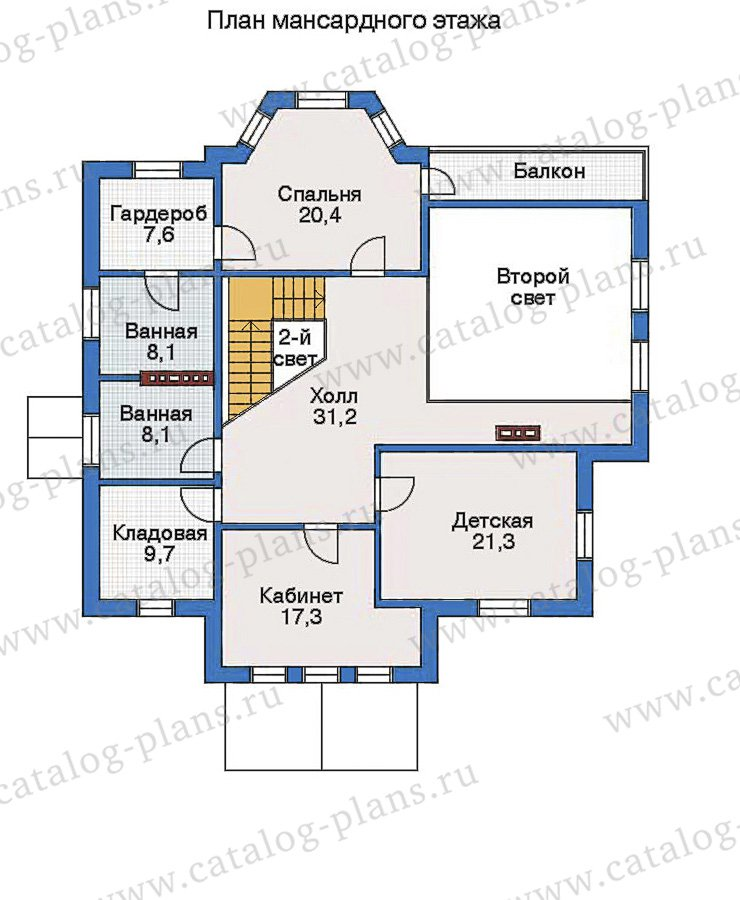 План 3-этажа проекта 80-10
