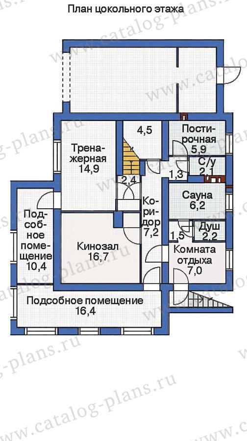 План 1-этажа проекта 53-74
