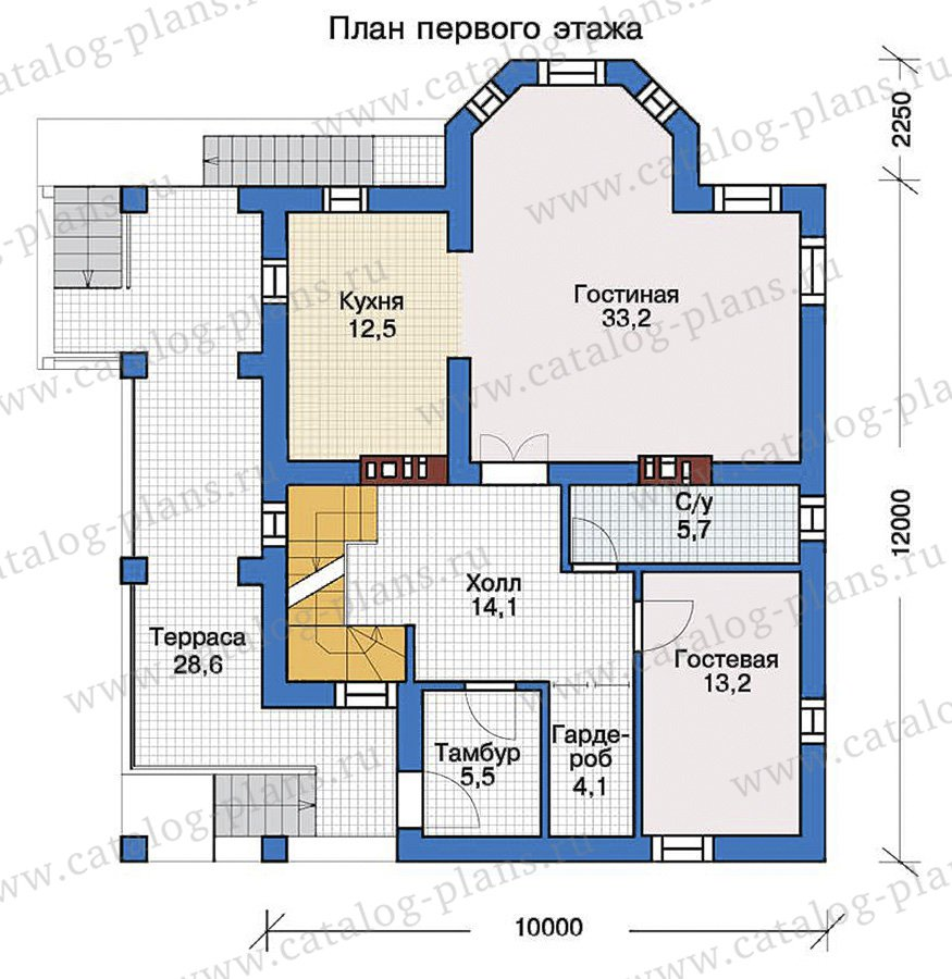 План 2-этажа проекта 57-32