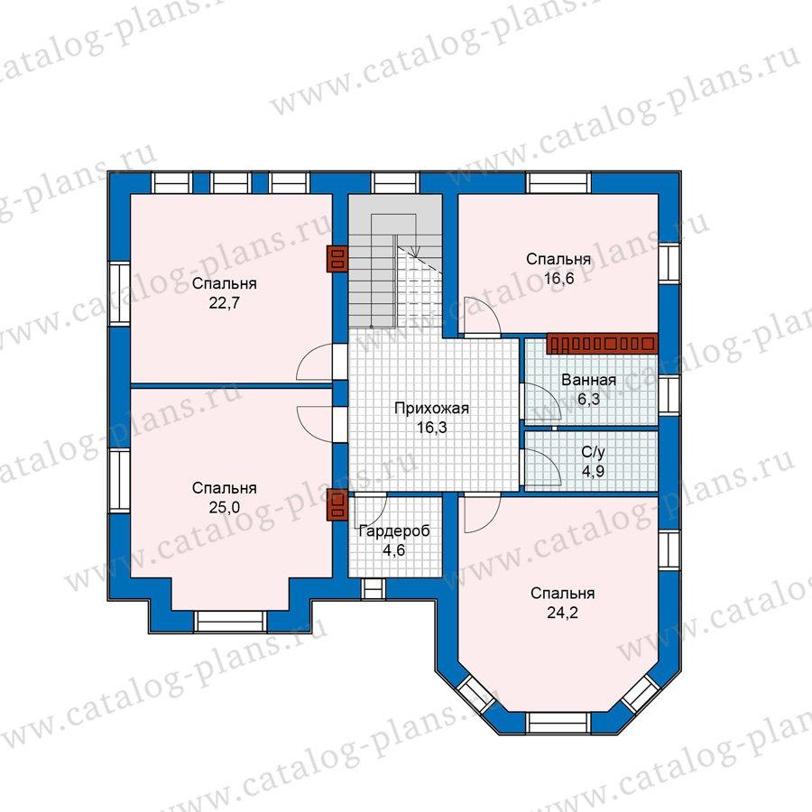 План 3-этажа проекта 40-11AG
